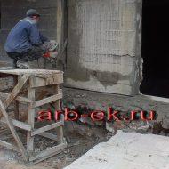 алмазная резка бетона ручным инструментом