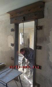 Устройство вырезка расширение усиление проемов в стене фундаменте